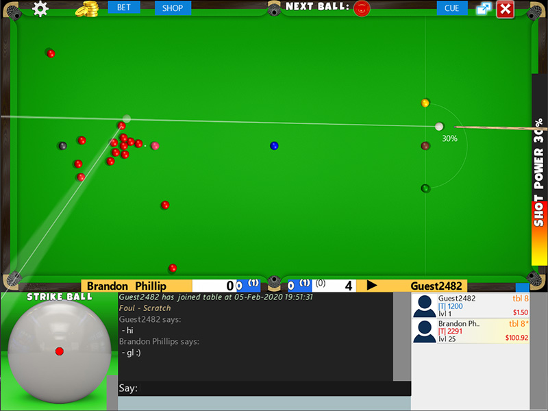 Flash Snooker Game full screenshot